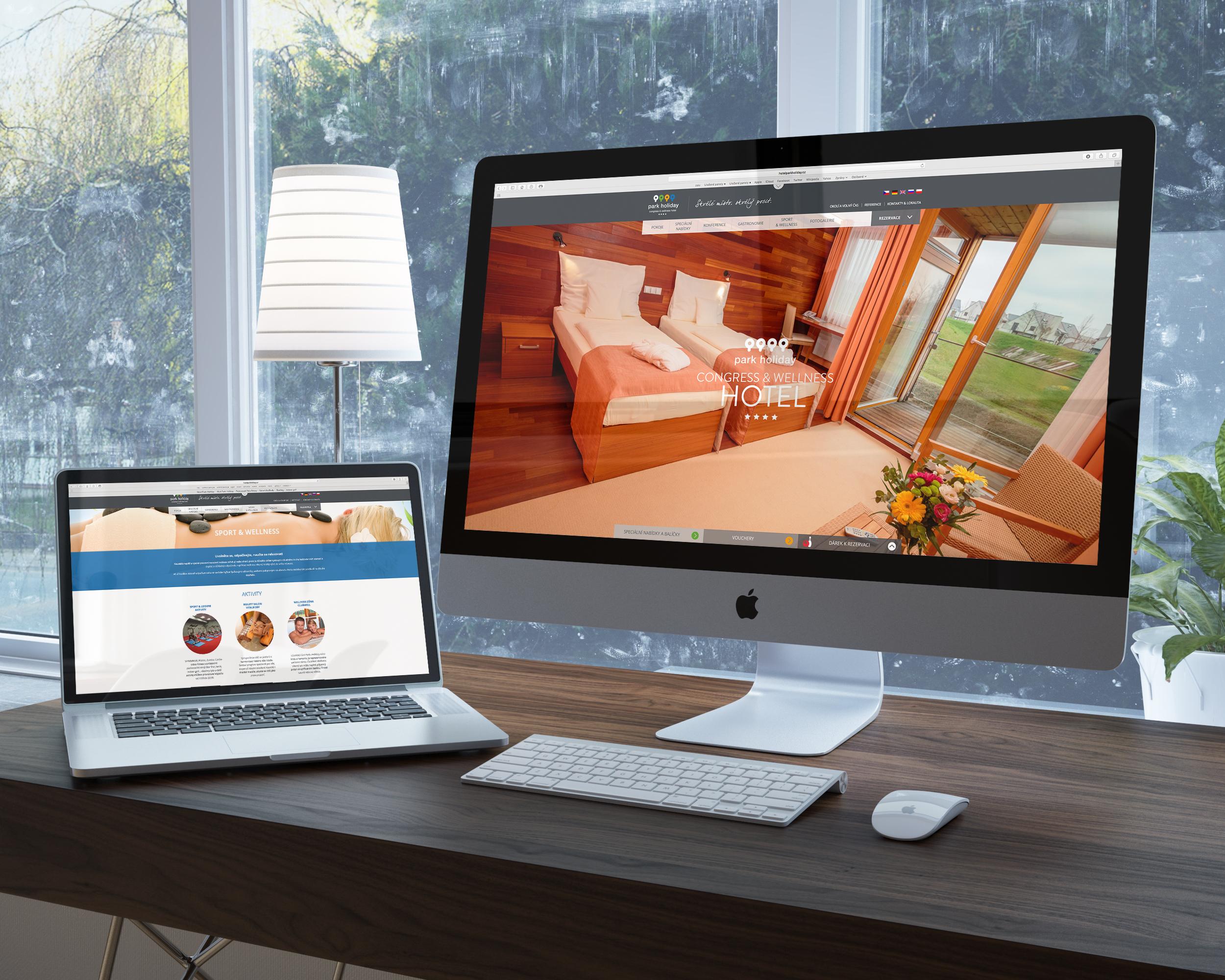Webdesign hotel Park Holiday