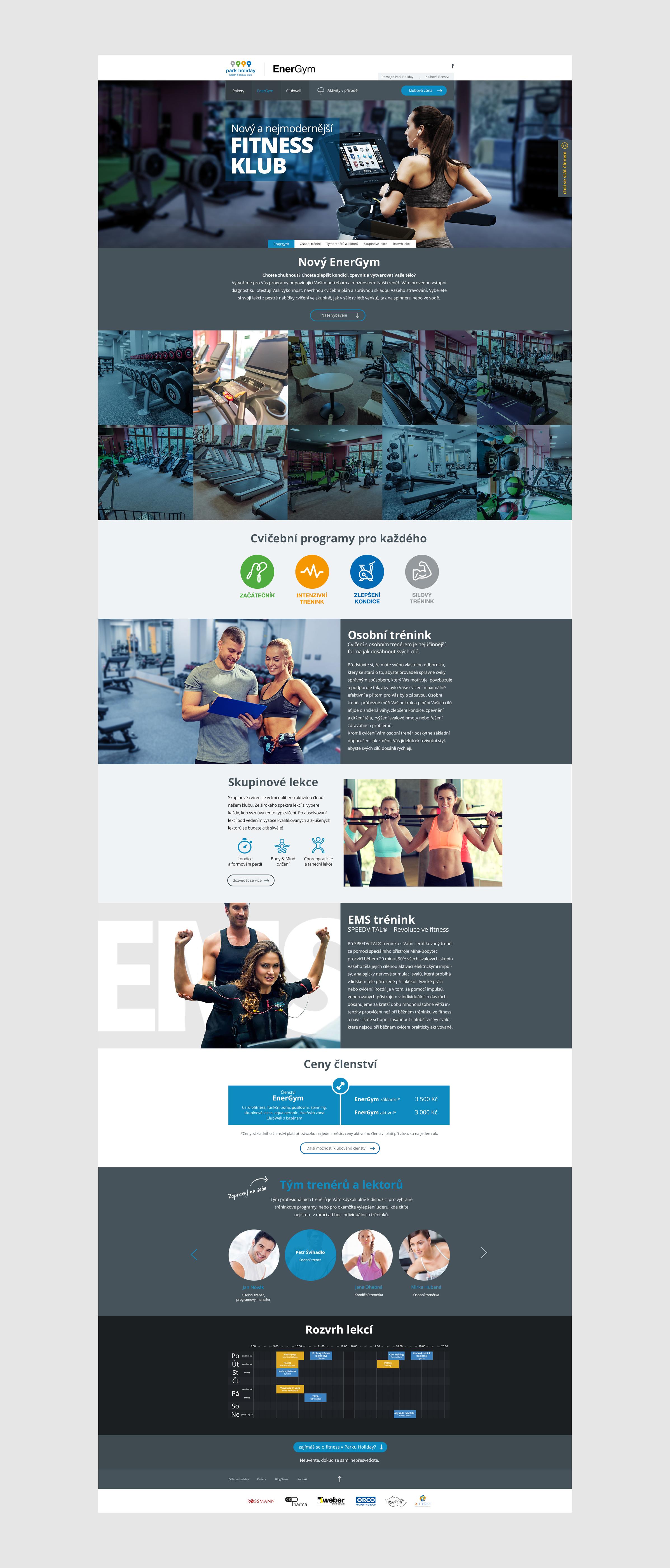 Webové stránky EnerGym