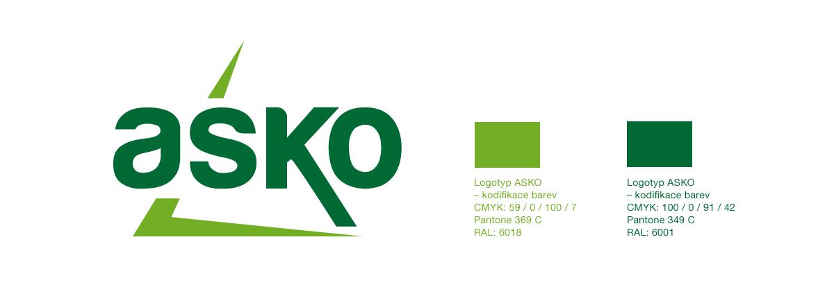 Tako vypadá finální podoba nového loga společnosti ASKO a.s., které se stalo základem její zcela nové firemní identity na které v této době stále intenzivně pracujeme.